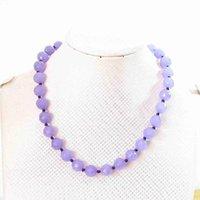 """pierre violet chaud 6 mm 8 mm 10 mm 12 mm facettes collier de perles rondes 18"""" B634"""