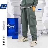 Инфляция Свободные подходят мужские спортивные штаны в чистом цвете 2020 осень зима ретро теплые спортивные штаны мужчины уличные одежды повседневные штаны 3232W1