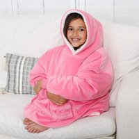 Microfiber Plush Coral Fleece Sherpa Blanket With Sleeves Su...