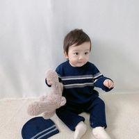 2020 menino menino meninas romper roupas 0-3year menino recém-nascido macacão algodão de manga longa macacão roupa roupa chapéu para crianças bebê onesie outono