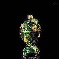 Qifu Neue Ankunft Green Faberge Egg Collection für Schmuck Box1