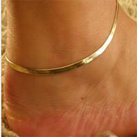 Metall Frauen Schlangenknochen anklet Schmuck Pure Farbe Überzogene Gold Dame Fashion Fish Scale Anklets Beliebt 0 5TK J2B