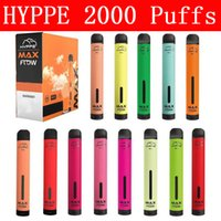 HYPPE MAX Akış Tek Kullanımlık Vapes Kalem Pod Cihazı Kiti Yerel Vape Marş Seti Tek Kullanımlık E Sigaralar 2000 Puffs Tek Kullanımlık Vape VS Puf Barları