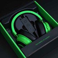 الشهير المصمم ديب باس لعبة سماعات ستيريو الإفراط في الأذن سماعة الألعاب العصابة سماعة مع هيئة التصنيع العسكري للكمبيوتر PC نقاط خضراء اللون