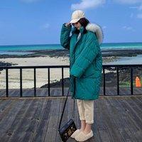 여성용 파카가 겨울 코트 여성 구매 겨울 코트 여성 2021 스타일 느슨한 큰 칼라 고양이 의류 Jas Trend1