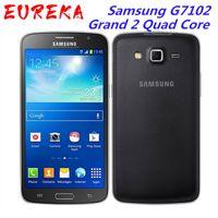Оригинал разблокирован Samsung G7102 Grand 2 Quad Core 5.25 дюймов 8 ГБ ROM 1,5 ГБ ОЗУ 8 МП GPS Dual Sim отремонтированный смартфон