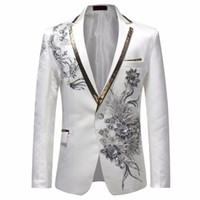 Male Single Breasted Slim Fit Suit Jacket Men Vintage Style ...