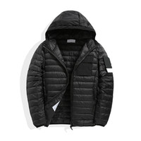 الرجال أسفل الشتاء ستر معطف مقنعين ضيق تركيب ملابس خارجية دافئة عارضة سليم الشارع سترة واقية الأوروبية والأمريكية أزياء العلامة التجارية