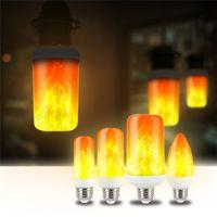 E27 E26 2835 LED Alev Etkisi Yangın Ampuller 7W 9 W Yaratıcı Işıklar Lamba Titrek Emülasyon Atmosfer Dekoratif lambalar
