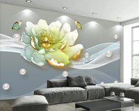 3d Mural Wallpaper tridimensional do relevo Peony Flower minimalista moderno Fundo da jóia TV Wall HD Wallpaper Impressão Digital