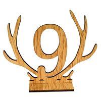 Nuovi antlers forma 1-20 numeri segni tabella della tabella di nozze Numero tavola di legno Numero di sedile di nozze rustico Numeri di direzione del partito Segnali di direzione