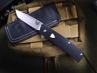 оптовик Benchmade Browning601 Flipper Titanium карманный складной нож 440C 57HRC Tactical Кемпинга Охота Выживание ножи EDC инструмент