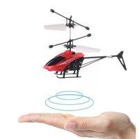Мини RC Drone Летающий RC Infraed Индукционная Вертолет мигающий свет игрушки для детей Рождественский подарок