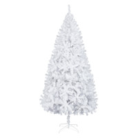 7FT Iron Leg White Christmas Tree with 950 Branches