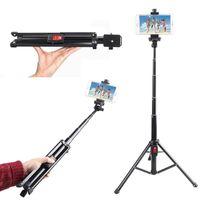 A6 inalámbrica Bluetooth selfie Palo Mini trípode selfie Stabd w / Clip Rotary Teléfono aplicables al mercado de 99% Modelo de conveniencia