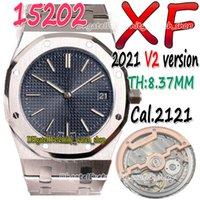 Eternity XFF 2021 V2 39mm Ultra-mince THK-8.37MM 15202 15400 CAL 2121 SA2121 SA2121 Montre pour hommes Automatique 904L Steel Boîtier Montres