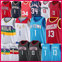 13 John Zion 1 Wall Harden Williamson Basketball Jersey Lonzo 2 Ball Hakeem 34 Olajuwon 2021 Neue Trikots Mens Mesh Red Blue