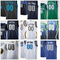 Özel Baskılı Jason 5 Kidd Steve 13 Nash 4 Finley 5 J.J. Barea 2 Tyler Bey 1 Tyrell Terry 8 Josh Yeşil Erkek Kadın Çocuklar Basketbol Formaları
