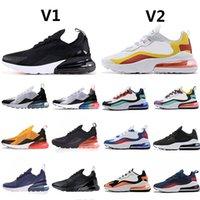270 달리기 신발 트리플 블랙 화이트 레드 여성 남성 Chaussures verred be redely 270s mens trainers 야외 스포츠 스 니 커 즈