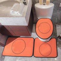 Trendy Klozet Kapak Mektup Tasarımcı Kapı Paspaslar Tuvalet Halı 3 Parça Setleri Kaymaz Emici Banyo Mat Setleri