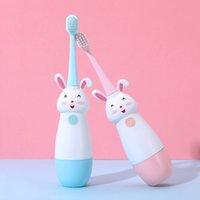 Nuovi Bambini caldi Spazzolino da denti a spazzolino da denti Spazzolino da denti Spazzola per i denti elettrici per bambini con testa di sostituzione morbida