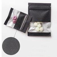 Bianco Marrone addensare nero Kraft Paper Bag astuccio con cerniera con Clear Finestra per il fiore per tè e caffè Snack Candy Food Storage Packet Campione