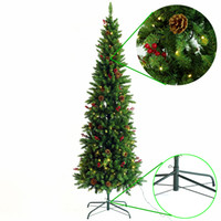 Hauptdekoration Festliche Partei Promotion Weihnachtsbaum warme weiße Lichter Ornament Kinder New Year Geschenke-Qualität PVC-Weihnachtsbaum