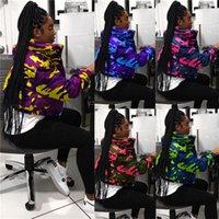 Camouflage Designer épais rembourré Veste matelassée femmes Ladies recadrée Puffer Coat ouatinée Veste coupe-vent Outwear extérieur Top Vêtements F110404