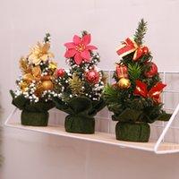 مصغرة شجرة عيد الميلاد عيد الميلاد الاصطناعية سطح المنضدة مهرجان ديكورات مصغرة شجرة مع الكرة الرئيسية غرفة سطح المكتب الحلي 2010PH
