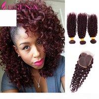 Rote Burgund Brasilianische Haarwebart 3 Bundles Angebote Brasilianisches Afro Kinky Curly Jungfrau Haar 99j lockig Webart Menschliches Haar mehr Wellenartige