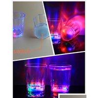 다채로운 led 컵 깜박이 샷 플라스틱 안경 빛나는 네온 컵 생일 파티 나이트 바 결혼식 음료 jllkst yeah2010