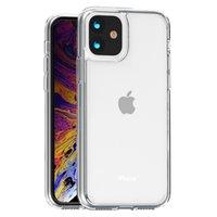 Cas de téléphone cellulaire transparent acrylique TPU pour iPhone 13 12 11 PRO Max x XS XR 8 7 6S Plus Samsung Galaxy S20 S21 S21ULTRA