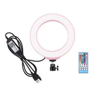 6. 2 Inch 16cm RGB Dimmable LED Ring Photography Light Selfie...