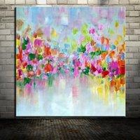 Mintura peint à la main des carrés colorés de couleur casquette peinture à l'huile de toile abstraite moderne peintures murales murales pour salon maison décoration1
