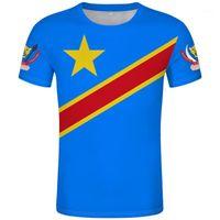 남성용 티셔츠 IRE T 셔츠 DIY 무료 맞춤형 이름 번호 R 티셔츠 국기 콩고 국가 프랑스 공화국 텍스트 인쇄 PO Clothes1