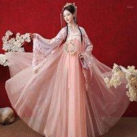 Stage Wear 2021 Hanfu Donne Estate Fairy Dress Antico Costumi da ballo folk tradizionali tradizionali Migliore Festival Outfit SL41451