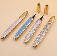 Auto-adesivo Diamond Eyeliner Caneta-Livre Magnética para Falso Transparente Café Preto Impermeável Sem Lápis de Liner de Olhos Blooming