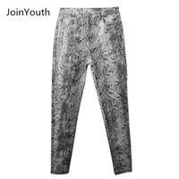 Joinyouth Women Snake Print карандаш шаблон брюки женские дамы высокая талия тощая мода стрейч осень зима упругие женские брюки LJ201130