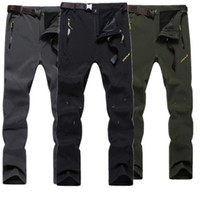 Pantalones al aire libre de invierno Hombres impermeables a prueba de viento Transpirables Pantalones suaves suaves Pantalones de gran tamaño Pesca Senderismo Camping Cálido Pantalones Pantalones1
