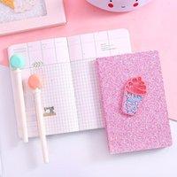 Notepads Kawaii Dergisi Pullu Pembe Dondurma Seyahat Izgara Hattı Dizüstü Kız Kırtasiye Haftalık Takvimi Okul Malzemeleri Kağıt Planlayıcısı
