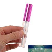 5PCS는 립글로스 튜브 라운드 립 밤 병 미용 도구 로즈 레드 미니 리필 병 샘플 유리 병 Ruber 내부 비우기 10ML