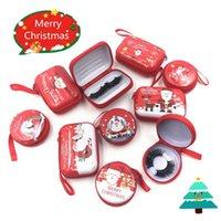 Pestañas falsas Caja de embalaje de pestañas de Navidad con cremallera pestañas cajas de pestañas cajas de pestañas Bandem 25 mm de maquillaje de visón