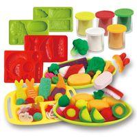 3D 슬라임 장난감 퍼티 소프트 점토 빛 plasticine 과일 음식 장난감 폴리머 곰팡이 건물 건축 아이들을위한 교육 완구 키트 201226