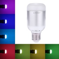 Lixada 6W 550LM E27 الذكية بلوتوث RGBW LED لمبة
