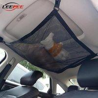 Techo LEEPEE coche Accesorios Interior de la red del acoplamiento almacenaje auto del Misceláneas del bolsillo ajustable Universal Cargo