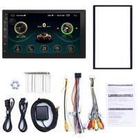더블 딘 안 드 로이드 8.1 유니버셜 자동차 멀티미디어 MP5 플레이어 GPS 네비게이션 7 인치 HD 터치 스크린 2 DIN WiFi 자동차 스테레오 1에 내장