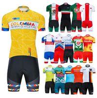 2020 Nova Nacional Roupa Set Cycling Team Jersey Bib bicicleta MTB Uniforme Quick Dry Clothes bicicleta homens Short Maillot Culotte Suit colombia