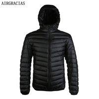 AirGracias New Llegan 90% Pato blanco Down Jacket Hombres Otoño Invierno Coat Coat Men's Light Futus Duck Down Chaqueta Abrigos 201023