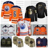 2021 Reverse Retro Anpassen # 6 Adam Larsson Edmonton Öler Hockey Jerseys Golden Edition Camo Veterans Tag Figns Cancer Shirts