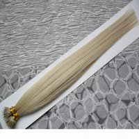 Keratina Straight European Micro Beads Hair Micro Beads Nessuno Remy Nano Ring Links Destensione dei capelli umani 100g 9 colori Blonde Capelli europei